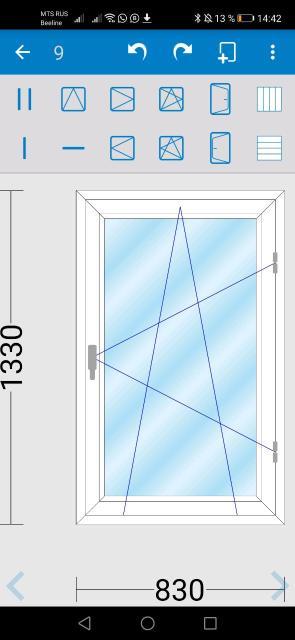Новое Окно!!! Окно поворотно-откидное. КБЕ книппинг