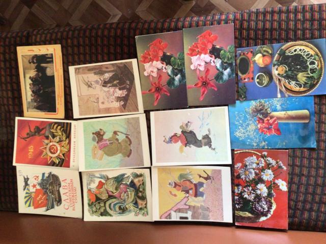 Старые открытки новогодние, 8 марта и другие