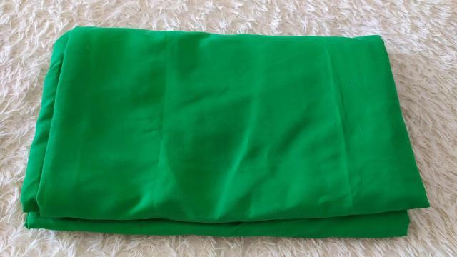 Зелёный тканевый фон. Размер 3х4м.