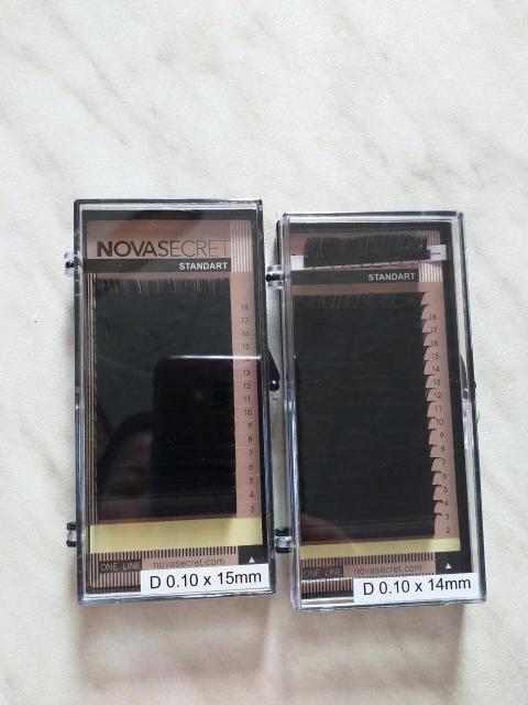 Ресницы новас.  14, 15 размер Изгиб D 0,10 Продаю, цена за двоих!