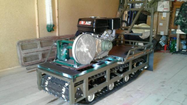 Мотобуксировщик самодельный на бурановской ходовой , все комплектующие новые , имеются чеки - 37 000 руб