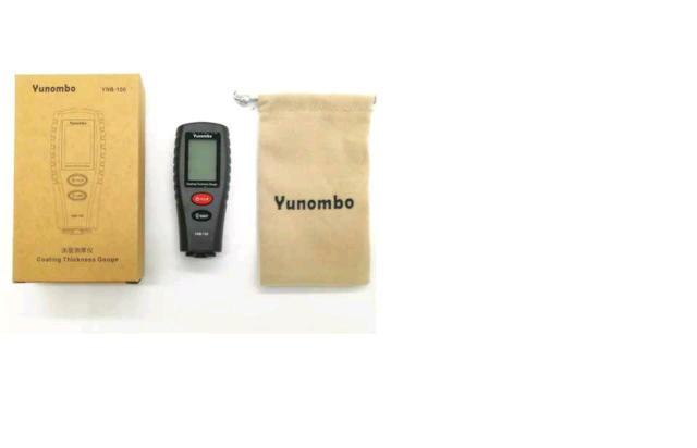 Характеристики и описание Yunombo YNB-100  Вес (г): 64; Габариты (мм): 83х35х22; Рабочая температура (°C): +18 °C ~ +35; Источник питания: 2xCR2032; Подсветка дисплея; Автоотключение; Макс. погрешность: 1 %; Скорость измерения (с): 1; Макс. толщина (цвет. мет) (мкм): 1800; Макс. толщина (чер. мет) (мкм): 1800; Тип: вихретоковый