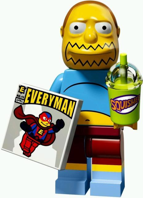Лего минифигурка Продавец комиксов Симпсоны Lego оригинал уникальная фигурка уникальные аксессуары