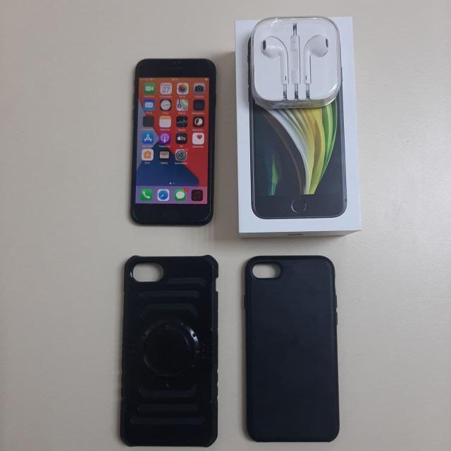 """экран: 4.7"""", ОЗУ: 3 ГБ память: 64 ГБ,камера: 12 МП процессор: Apple A13 Bionic SIM-карты: 2 (nano SIM+eSIM) NFC, Wi-Fi, Bluetooth 5.0,4G LTE,степень защиты: IP67  Комплект: коробка, зарядник, наушники чек, 2 чехла. Состояние: 9\10, защитное стекло."""