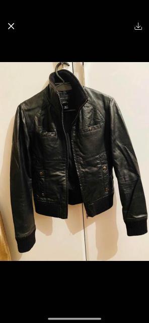 Продается кожаная куртка Mango, размер 42. Торг