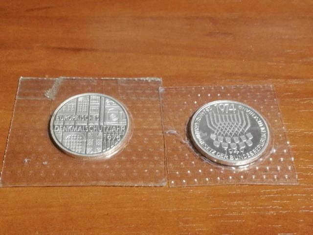 Серебряные монеты ФРГ пруф в запайках по 625рб
