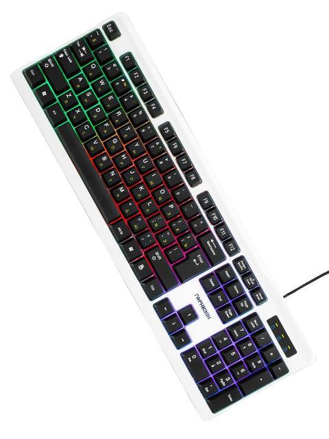 Продаю новую игровую клавиатуру Гарнизон GK-110L  Подсветка Rainbow (включается нажатием клавиши Scroll Lock); Большая клавиша Enter. ТЕХНИЧЕСКИЕ ХАРАКТЕРИСТИКИ: Тип: проводная; Интерфейс подключения: USB; Длина кабеля: 1.5 м; Количество клавиш: 104; Размеры: 450х160х26 мм; Вес: 465 г.