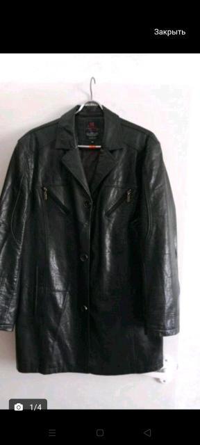 Продаю стильную кожаную куртку, размер 50-52,в отличном состоянии, без потёртости, без торга.