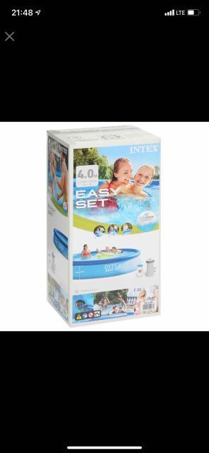 Продаю б/у Бассейн надувной Easy Set, 396 х 84 см, фильтр-насос, 28142 INTEX,зимой хранили дома🙌🏻бесплатно доставим по городу👌