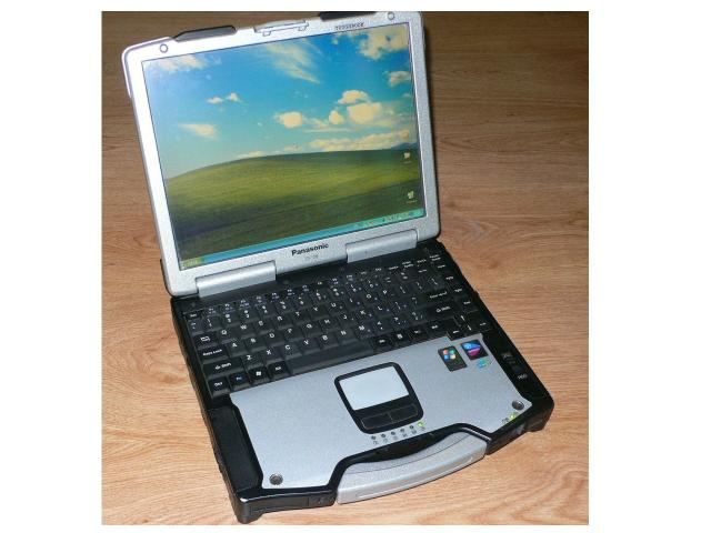 """Продам Защищенный ноутбук Panasonic CF-29 для диагностики автомобилей с сенсорным экраном 13,3"""".  Корпус ударопрочный, пыле-и влагозащищенный."""