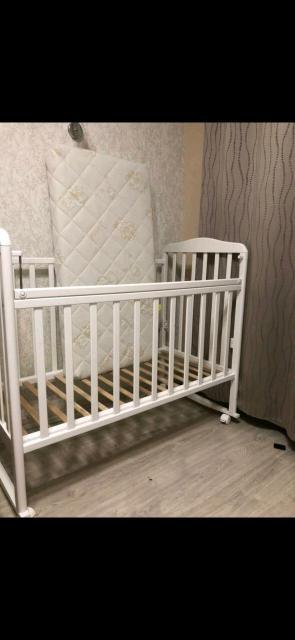 Кровать детский с матрасом, почти не пользовались новый 👍