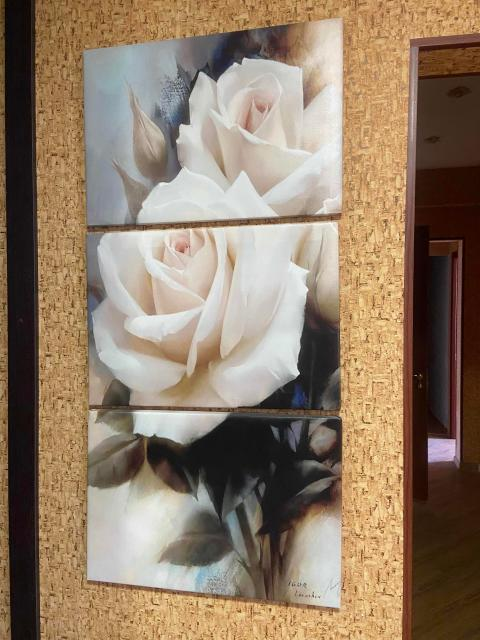 Картина из трёх модулей «Роза». Тел.89148284517