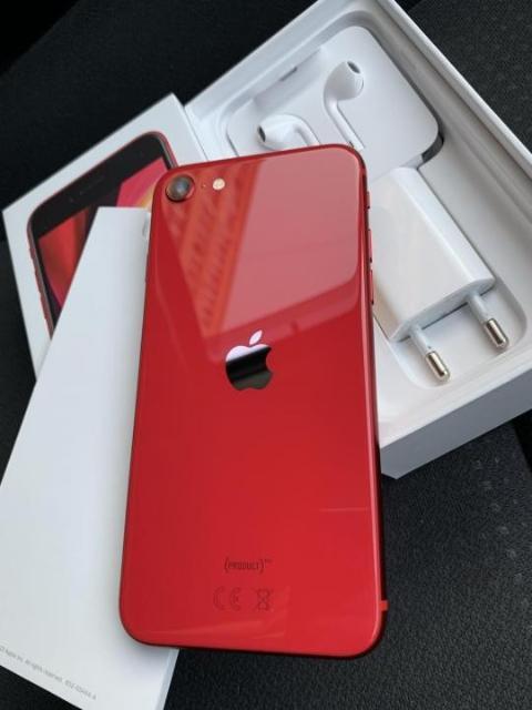 Продаю Apple iPhone SE 2020 64GB Red. На гарантии. В отличном рабочем состоянии. В одних руках. Всегда носили в чехле и защитном стекле. Корпус в идеальном состоянии. Ремонту не подвергался, все детали родные, любые проверки. В комплекте документы (коробка), зарядное устройство, наушники. Реальному покупателю доставка бесплатно. Возможен обмен на iPhone только на выгодных для меня условиях.