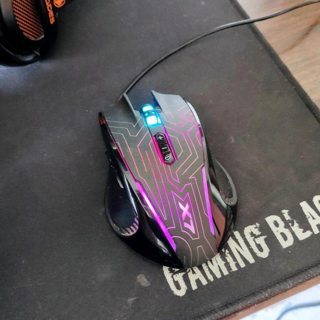 Продаю игровую мышку x7, все работает, сенсор не срывает Есть подсветка разными цветами  В магазине новая стоит 1500 Продаю за ненадобностью Кого заинтересовал - пишите, звоните)