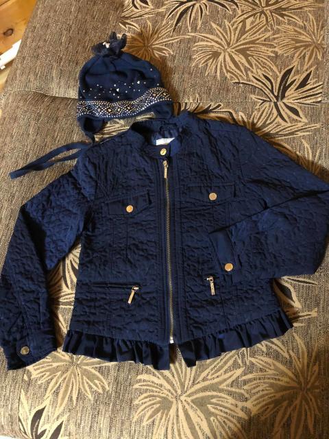Куртка Р 128,Шапка 52-54,красивые в отличном состоянии,не дорого