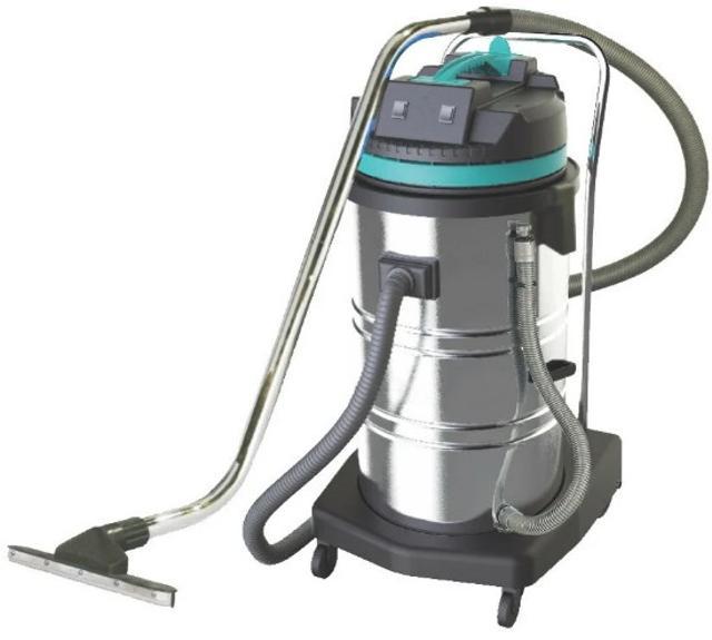 Пылеводосос 80л. нерж. 220V 2200W 2 турбины Профессиональный пылеводосос для работы на автомойках, автосервисах, на промышленных предприятиях. Предназначен для сухой и влажной уборки. Корпус пылеводососа изготовлен из противоударного пластика. Бак изготовлен из качественной нержавейки. На пылеводососе установлены 2 турбины итальянского типа мощностью 2000 ватт. Кнопки защищены от влаги. Так же на корпусе у основания есть шланг для слива воды и грязи.  Технические характеристики пылеводососа: Мощность, Вт. 2000 Количество турбин, шт. 2 Объем бака, л. 80 Встроенная розетка нет Работа на выдув нет Влажная уборка нет Гарантия 1 год Напряжение 220V\50Hz Применение Сухая и влажная уборка Корпус Нержавеющая сталь, пластик Производительность, воздух 120 л\с Мощность всасывания 250 бар. Система охлаждения Воздушная Диаметр корпуса 440 мм. Высота 1050 мм. Диаметр всасывающего шланга 40 мм. Длинна кабеля 8 м.  Комплектация: Гибкий шланг - 1 шт. Длинное соединение - 1 шт. Короткое соединение - 1 шт. Стальная трубка - 2 шт. Насадка для сухой уборки - 1 шт. Насадка для влажной уборки - 1 шт. Щелевая насадка - 1 шт. Круглая щетка - 1 шт.
