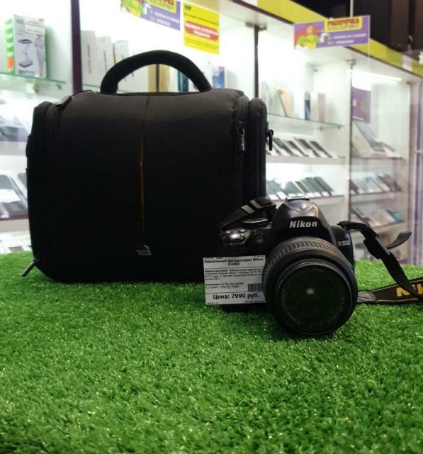 """Любительская зеркальная фотокамера байонет Nikon F матрица 10.75 МП (APS-C) экран 3"""" вес без элементов питания и объектива 485 г"""