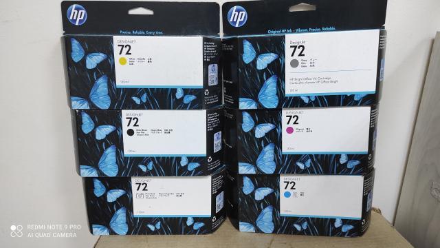 Все шесть цветов - чёрный матовый, чёрный фото, голубой, пурпурный, жёлтый, серый. Новые, в упаковке. По отдельности не продаём! Подходят для плоттеров HP Designjet T2300 PostScript eMultifunction, HP DesignJet T790 PostScript, HP DesignJet T1300 PostScript, HP Designjet T1120 SD, HP Designjet T1120 HD, HP Designjet T1120PS, HP Designjet T1200HD, HP DesignJet T1100ps, HP Designjet T1300, HP Designjet T770, HP Designjet T1120, HP Designjet T610, HP Designjet T1100, HP DesignJet T795.