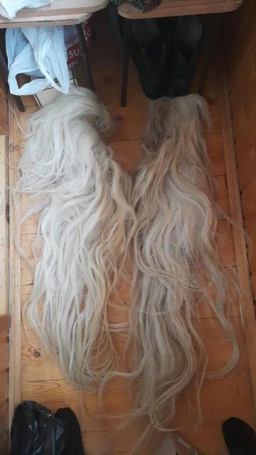 Продаю конские хвосты белые,серые,черные 4000-6000трб  89248971717