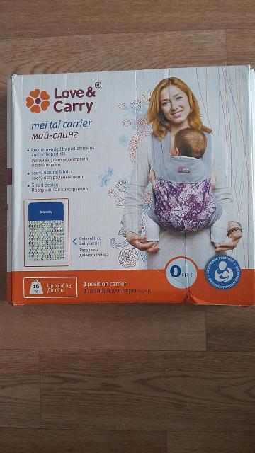 """Продам май-слинг """"Малибу"""" для ношения детей,в отличном состоянии, 3 позиции для переноски, до 16 кг., 600 руб."""