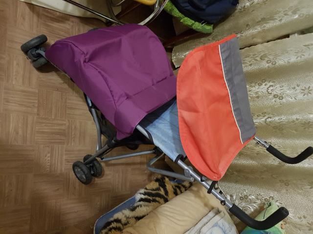 🧸Коляска-трость: ✅Складывается одним движением ✅Имеет 2 положения: сидя и полу сидя ✅Ремешок для ношения коляски ✅Корзина для покупок ✅Козырёк ✅Накидка на ножки