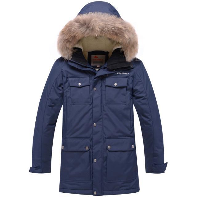 Новая утепленная подростковая парка для мальчика. Куртка не продувается ветром, и не промокает. Утеплитель тинсулейт, внутренняя подкладка из овечьей шерсти, опушка натуральный мех. Цвет темно-синий.