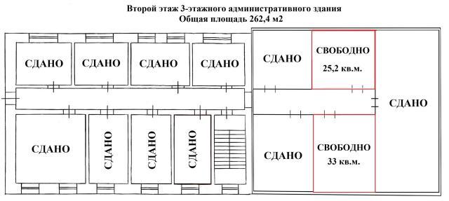 Офисные помещения в аренду - 700 р. за 1 кв.м. площадью: от 15 кв.м до 33 кв.м.  По всем интересующим вопросам обращаться по телефону: 240-240.