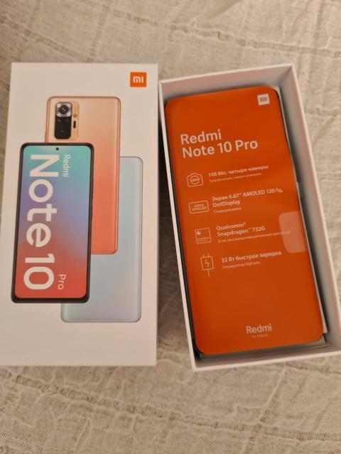 Продаю новый телефон *Xiaomi Redmi Note 10 Pro Glacier Blue, 128 Гб* Технические характеристики Интернет GPRS, EDGE, 3G, 4G LTE Диагональ (дюйм) 6.67 Разрешение (пикс) 2400x1080 Встроенная память (Гб) 128 Фотокамера (Мп) 108 + 8 + 5 + 2 (четыре основные камеры) Частота процессора (МГц) 2300 Количество ядер 8 Оперативная память (Гб) 8 Поддержка карт памяти MicroSD, MicroSDHC, MicroSDXC Слот для карты памяти отдельный Операционная система Xiaomi MIUI на основе Android SIM-карта nano-SIM Аккумулятор (мАч) 5020 Вес (г) 193