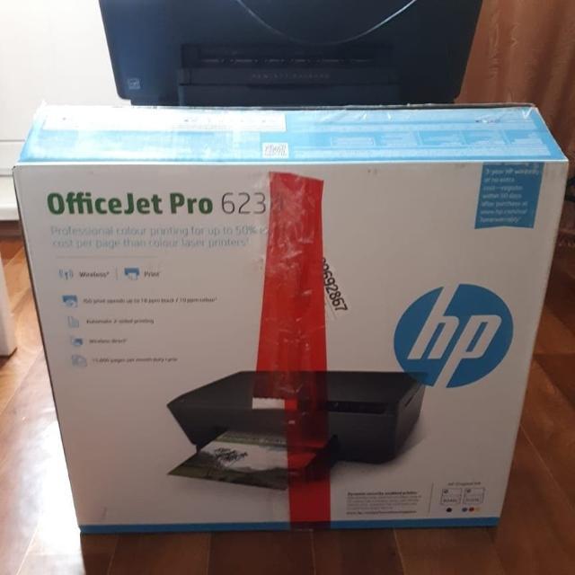 Продаю новый струйный цветной принтер (использовалось пару раз) hp officejet pro 6230 цвет черный, подключение usb либо wi - fi за 5000 рублей без торга